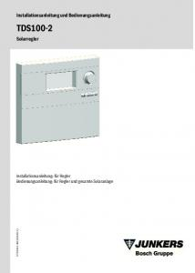 TDS Installationsanleitung und Bedienungsanleitung. Solarregler