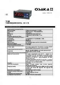 TE 96 TEMPORIZADOR DIGITAL 33 X 75