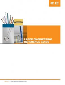 TE LASER ENGINEERING REFERENCE GUIDE LASER ENGINEERING REFERENCE GUIDE