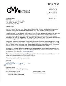 TE March 8, Dyers City Clerk City of Toronto - City Clerk's Office 100 Queen St. West, 1 i h Floor Toronto, ON M5H 2N2