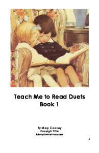 Teach Me to Read Duets Book 1