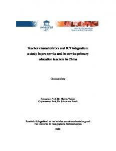 Teacher characteristics and ICT integration: a study in pre-service and in-service primary education teachers in China