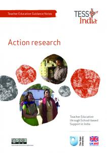 Teacher Education Guidance Notes. Action research. Teacher Education through School-based Support in India