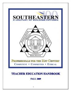 TEACHER EDUCATION HANDBOOK