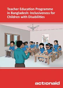 Teacher Education Programme in Bangladesh: Inclusiveness for Children with Disabilities