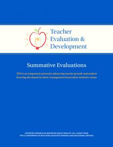 Teacher Evaluation & Development