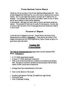 Teacher Kit Transcription