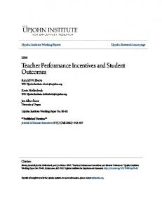 Teacher Performance Incentives and Student Outcomes