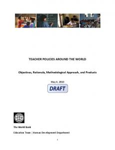 TEACHER POLICIES AROUND THE WORLD