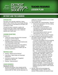 TEACHER RESOURCE LESSON PLAN