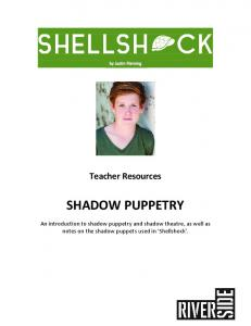 Teacher Resources SHADOW PUPPETRY