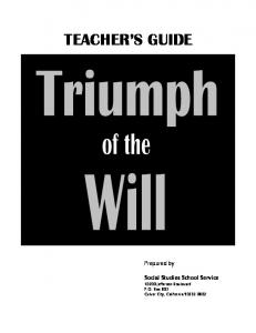 TEACHER S GUIDE. Of the
