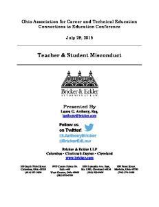 Teacher & Student Misconduct
