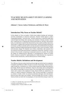 TEACHERS BELIEFS ABOUT STUDENT LEARNING AND MOTIVATION