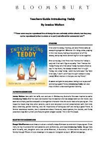 Teachers Guide Introducing Teddy By Jessica Walton