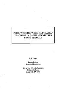 TEACHERS IN PAPUA NEW GUINEA
