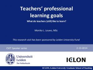 Teachers professional learning goals