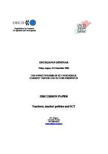 Teachers, teacher policies and ICT