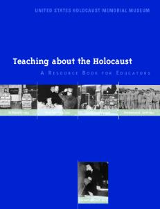 Teaching about the Holocaust