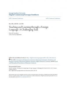 Teaching and Learning through a Foreign Language: A Challenging Task