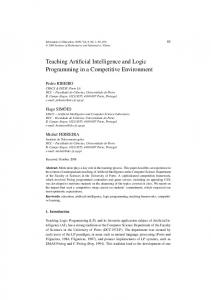 Teaching Artificial Intelligence and Logic Programming in a Competitive Environment