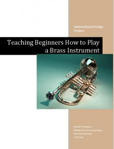 Teaching Beginners How to Play a Brass Instrument