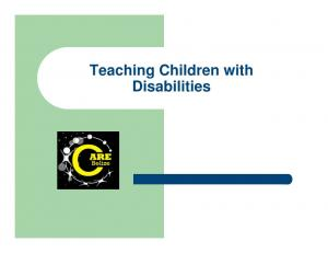 Teaching Children with Disabilities