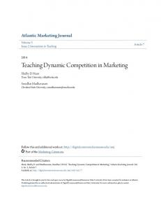 Teaching Dynamic Competition in Marketing