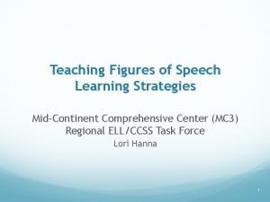 Teaching Figures of Speech Learning Strategies