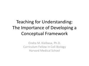Teaching for Understanding: The Importance of Developing a Conceptual Framework