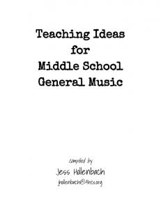 Teaching Ideas for Middle School General Music