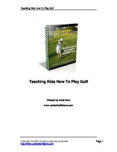 Teaching Kids How To Play Golf