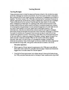 Teaching Materials. Teaching Strategies