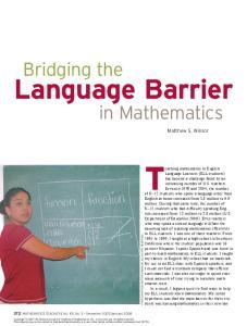 Teaching mathematics to English