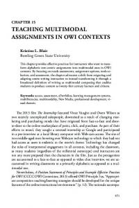 TEACHING MULTIMODAL ASSIGNMENTS IN OWI CONTEXTS