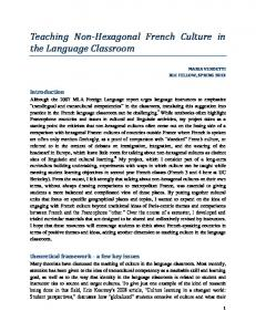 Teaching Non-Hexagonal French Culture in the Language Classroom