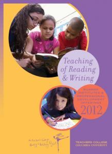 Teaching of Reading & Writing
