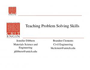 Teaching Problem Solving Skills