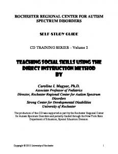 Teaching Social skills using the direct instruction Method By