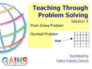 Teaching Through Problem Solving