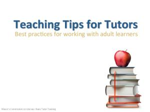 Teaching Tips for Tutors