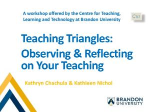 Teaching Triangles: Observing & Reflecting on Your Teaching
