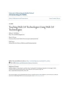 Teaching Web 2.0 Technologies Using Web 2.0 Technologies