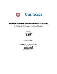 Teachscape Professional Development Programs for Teachers: