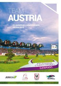 TEAM AUSTRIA FEI EUROPEAN CHAMPIONSHIPS AACHEN 2015