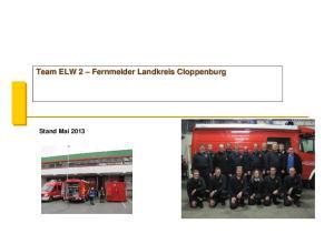 Team ELW 2 Fernmelder Landkreis Cloppenburg. Stand Mai 2013
