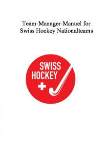 Team-Manager-Manuel for Swiss Hockey Nationalteams