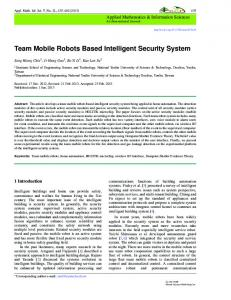 Team Mobile Robots Based Intelligent Security System