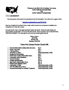 Team New Jersey Forms Check-Off