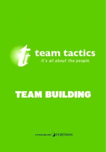 team tactics it s all about the people